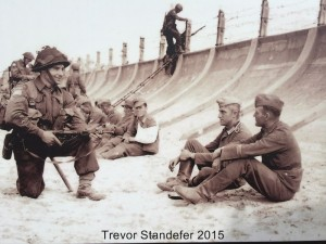 Canadian soldier with German prisonners
