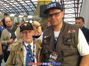 Jim Pee Wee Martin and I at Utah Beach Museum June 6th 2014