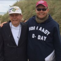 Jack Port 4th Inf. Div and me at Utah beach