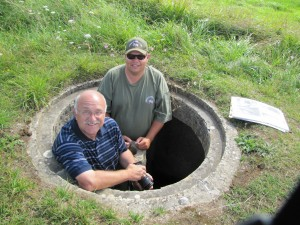 Jeff and Trevor  at WN 60 more eastern German position on Omaha Beach