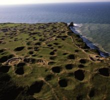 Pointe du Hoc from the air