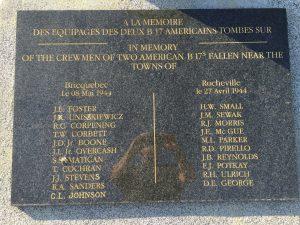 Plaque dedicated to the U.S. Airmen