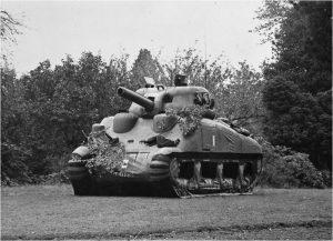 Dummy Sherman tank