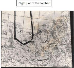 Flight plan of B-17 bomber