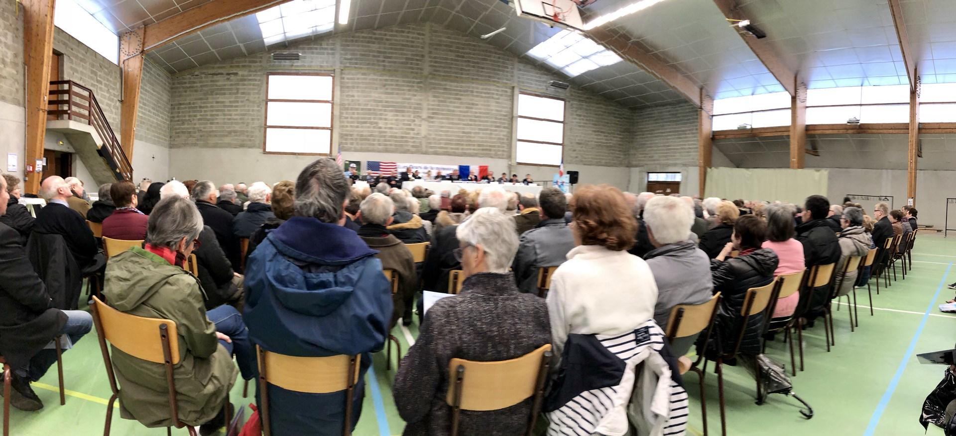 "One of the annual meetings of the ""Fleurs de la Memoire"""